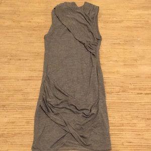 Olive green Zara wrap dress